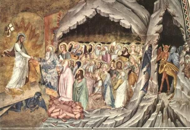 Resultado de imagen de Jesús en los infiernos